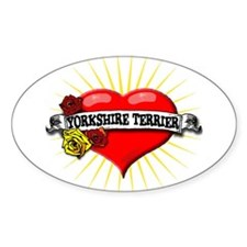 Yorkshire Terrier Heart Oval Decal