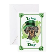 St. Patrick Dachshund Greeting Card