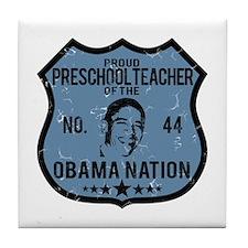 Preschool Obama Nation Tile Coaster
