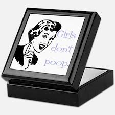 Girls don't poop Keepsake Box