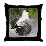 Swallow Pigeon In Field Throw Pillow