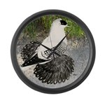Swallow Pigeon In Field Large Wall Clock