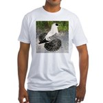 Swallow Pigeon In Field Fitted T-Shirt