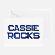 cassie rocks Greeting Card