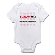 I Love My Insurance Broker Infant Bodysuit