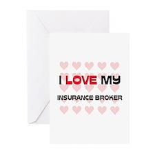 I Love My Insurance Broker Greeting Cards (Pk of 1