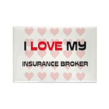 I Love My Insurance Broker Rectangle Magnet