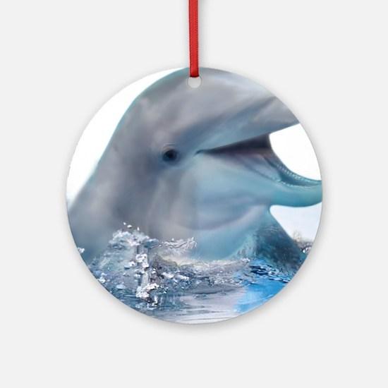Happy Dolphin Ornament (Round)