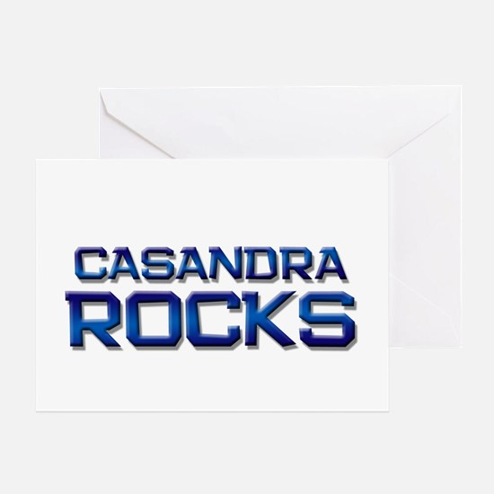 casandra rocks Greeting Card