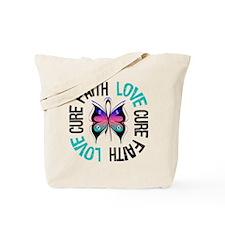 ThyroidCancer FaithLoveCure Tote Bag
