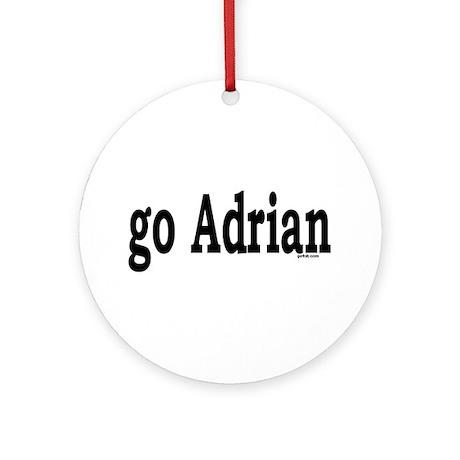 go Adrian Ornament (Round)