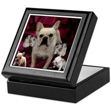French Bulldog Mother & Puppi Keepsake Box