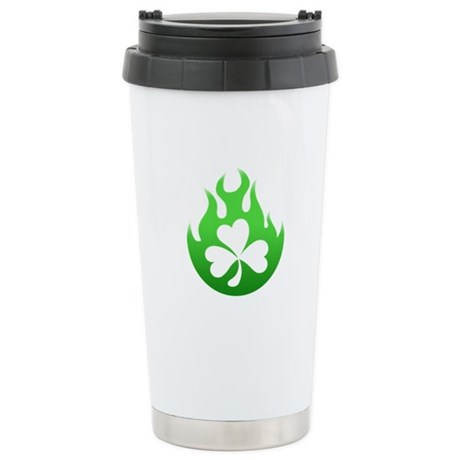 flame and shamrock4 Stainless Steel Travel Mug