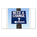 Change Rectangle Sticker 10 pk)
