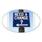 Change Oval Sticker