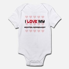 I Love My Industrial Microbiologist Infant Bodysui
