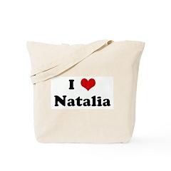 I Love Natalia Tote Bag