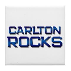 carlton rocks Tile Coaster