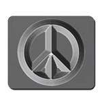 Silver Peace Sign Mousepad