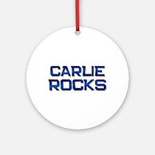 carlie rocks Ornament (Round)