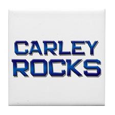 carley rocks Tile Coaster