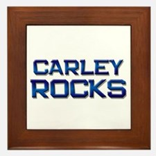 carley rocks Framed Tile