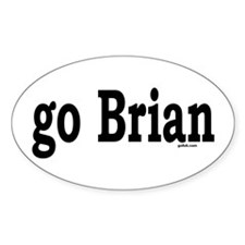 go Brian Oval Decal