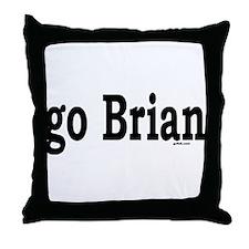 go Brian Throw Pillow