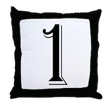 """Algerian - Number 1"" Throw Pillow"