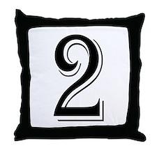 """Algerian - Number 2"" Throw Pillow"