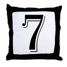 """Algerian - Number 7"" Throw Pillow"