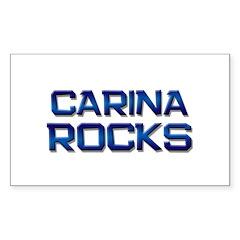 carina rocks Rectangle Decal