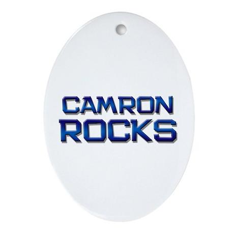 camron rocks Oval Ornament