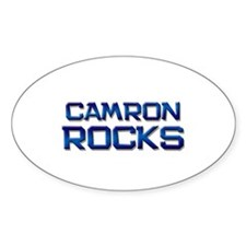 camron rocks Oval Decal