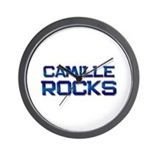 camille rocks Wall Clock