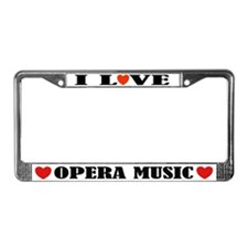 I Love Opera License Plate Frame