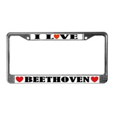 I Love Beethoven License Plate Frame