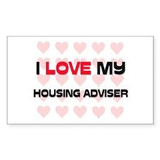 I Love My Housing Adviser Rectangle Decal