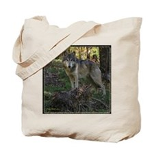 Wolf Posing Tote Bag