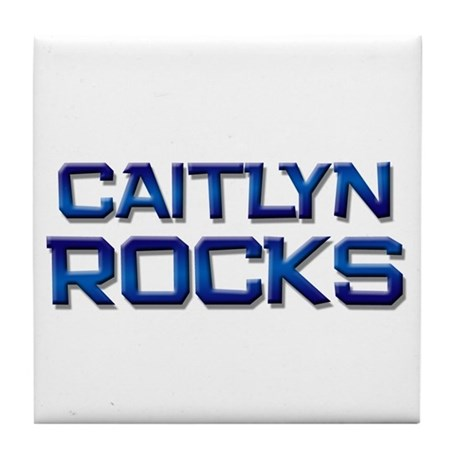 caitlyn rocks Tile Coaster