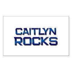 caitlyn rocks Rectangle Decal