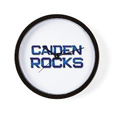 caiden rocks Wall Clock