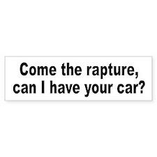 Religious Cult Rapture Humor Bumper Car Sticker