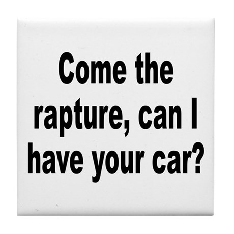Religious Cult Rapture Humor Tile Coaster