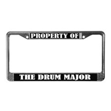 Property Of The Drum Major License Plate Frame