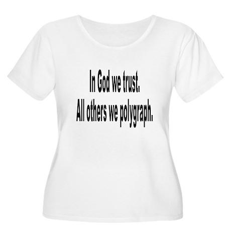 In God We Trust Humor (Front) Women's Plus Size Sc