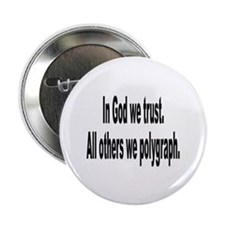 "In God We Trust Humor 2.25"" Button (10 pack)"