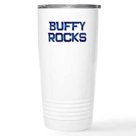 buffy rocks Stainless Steel Travel Mug