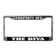 Property Of The Diva License Plate Frame