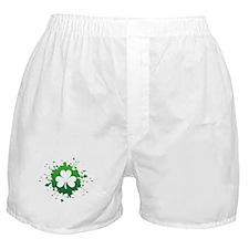 Splatter Shamrock Boxer Shorts